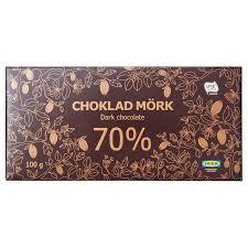 CHOKLAD MÖRK 70% <b>Dark chocolate 70</b>% - UTZ certified - IKEA