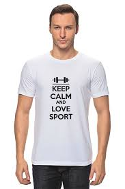 <b>Футболка классическая Keep</b> calm and love sport #1639424 от ...