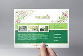 gardening service flyer template brandpacks a5 gardening service flyer template
