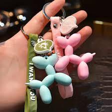 <b>2019 New Fashion Cute</b> Balloon Dog Keychain Girl Key Ring ...