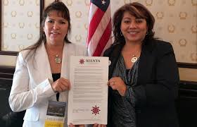 national native tourism organization proclaims travel and tourism aianta executive director camille ferguson and aianta board president sherry l rupert celebrate tourism s economic
