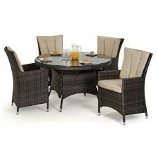 rattan seater dining set maze rattan la  seat rattan dining set m round table