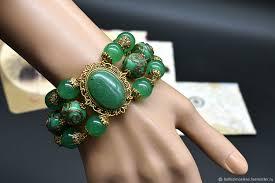 <b>Браслет</b> из натуральных камней,<b>авантюрин</b>,<b>зеленый</b>,лэмпворк ...