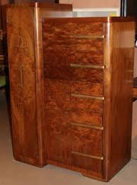 skyscraper art deco wardrobe with burled walnut veneers circa 1920 1930 ebay art deco figured walnut wardrobe vintage