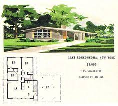 images about Mid Century Modern Dream House Plans on    Lakeside Village MCM ranch