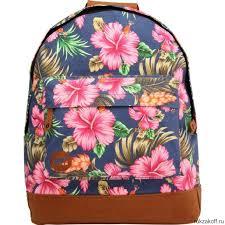 <b>Рюкзак Mi-Pac Premium Floral</b> Tropical Hibiscus Blue купить по ...