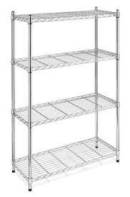 vanra bathroom spacesaver metal storage organizer metal storage shelves steel shelving chrome  tier kitchen organizer ga