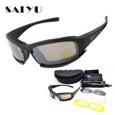 SAIYU X7 <b>Military</b> Goggles Bullet Proof <b>Army</b> C6 Polarized ...