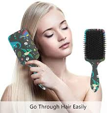 Colorful <b>Dinosaur</b> Art <b>Prints</b> Hair Brush Comb Scalp Massage <b>Air</b> ...
