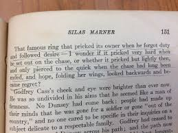 book traces book submission silas marner