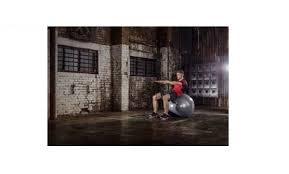 <b>Мяч гимнастический Reebok</b> двухцветный (серый/черный), 75 см ...