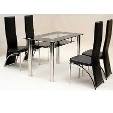 black dining chairs set