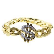 Gold <b>US Dollar</b> Sign Bracelet Costume Gangster Pimp <b>Hip hop</b> ...