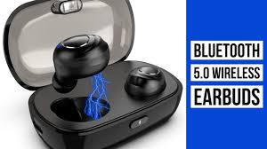 <b>Bluetooth 5.0 Wireless Earbuds</b> | Sports Headset with Charging ...