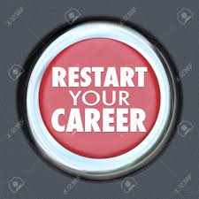 retart your career words on a red round car start button to retart your career words on a red round car start button to illustrate jumping into a