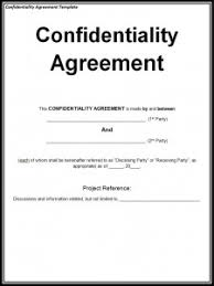 7 confidentiality agreement templates business agreement sample letter