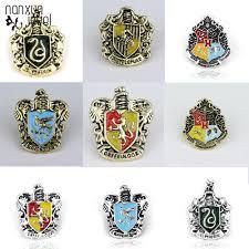 Hot Sale Vintage Hogwarts School Badge Enamel Movie Brooches ...