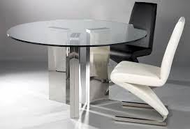glass top kitchen tables couchable picture: glass dining room tables glass top dining table with chrome base round