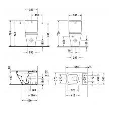 <b>Чаша напольного унитаза Duravit</b> DuraStyle 2155090000 ...