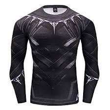 GYMGALA Black Panther <b>Men's Compression Shirt 3D</b> Pattern ...