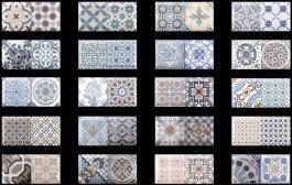 <b>Керамическая плитка Monopole Ceramica</b> Antique Sky 10x20 (микс)