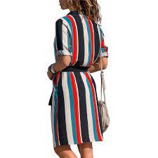 <b>Chiffon Dress</b> 2019 Summer Striped A-line <b>Print</b> Boho Beach ...