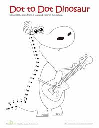 Kindergarten Dot-to-Dots Worksheets & Free Printables | Education.comDot to Dot A to Z: Dinosaur