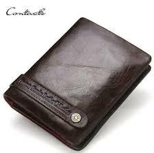 RFID Protect Men <b>Leisure Genuine Leather Cowhide</b> Wallet Bifold ...