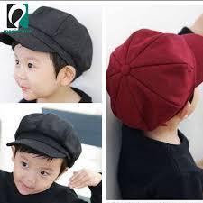 MS   Fashion Autumn <b>Winter</b> Korean Children Beret <b>Solid</b> Color ...