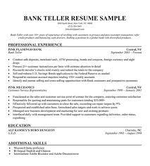 bank teller resume sample resume companion resume sample bank teller