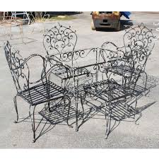 vintage black wrought iron dining set black wrought iron outdoor furniture