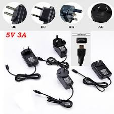 DC <b>5V 3A Micro USB</b> AC Adapter Wall Power Supply Charger for ...