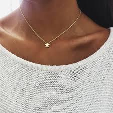 <b>Fashion</b> Star Choker Necklace <b>Women</b> Jewelry Chocker <b>Gold Silver</b> ...