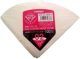 Hario Paper Filter White for 02 Dripper 100sheets, Size 2-<b>100pcs</b> ...