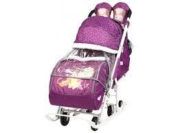 Купить <b>санки</b>-<b>коляску Nika Disney</b> baby 2 Медвежонок Винни ...