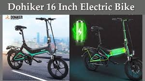 <b>Dohiker 16 Inch Electric</b> Bike Removable 7.5AH Lithium-Ion Battery