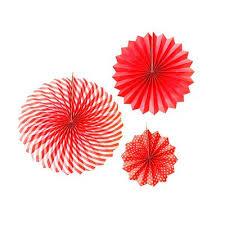 <b>Набор</b> бумажных фантов Пати Бум <b>красные</b> (<b>3</b> штуки в упаковке ...
