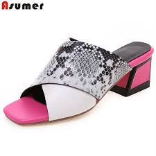 ASUMER <b>Plus size 34 43 New</b> 2019 women sandals open toe ...