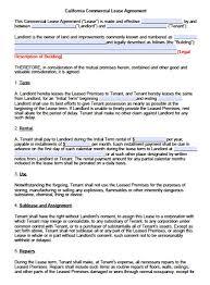 california commercial lease agreement pdf word doc standard version 1 adobe pdf microsoft word