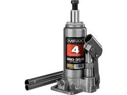 <b>Домкрат</b> гидравлический бутылочный 4т 180-355 мм MIRAX ...