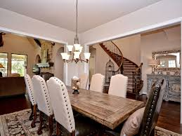 Dining Room Sets Austin Tx Cottage Dining Room With Hardwood Floors Ampamp Chandelier In
