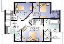 House plan W  V detail from DrummondHousePlans com    nd level Lovely compact country cottage house plan  lots of natural lights  open floor