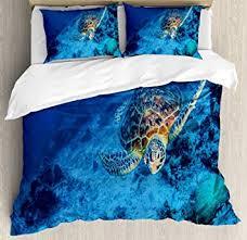 Ambesonne <b>Turtle</b> Duvet Cover Set, Oceanic Wildlife Themed <b>Photo</b> ...