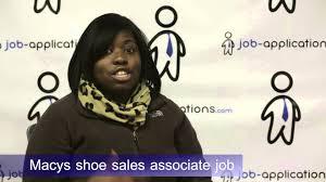 macy s shoe s associate