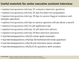 top senior executive assistant interview questions and answers 13 useful materials for senior executive assistant interview