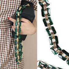 Fish Bone <b>Acrylic</b> Clear Strap Bag Accessories DIY <b>Resin Chain</b> ...