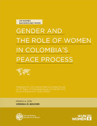 gender and the role of women in s peace process united gender and the role of women in s peace process united states institute of peace