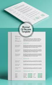 free modern resume templates  amp  psd mockups   freebies   graphic    minimal resume template