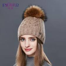 ENJOYFUR Women hat for spring Autumn knitted beanies caps with ...