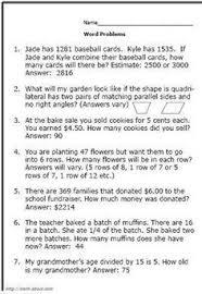 3rd grade math, 3rd grade math worksheets and Word problems on ...4th Grade Math Word Problems